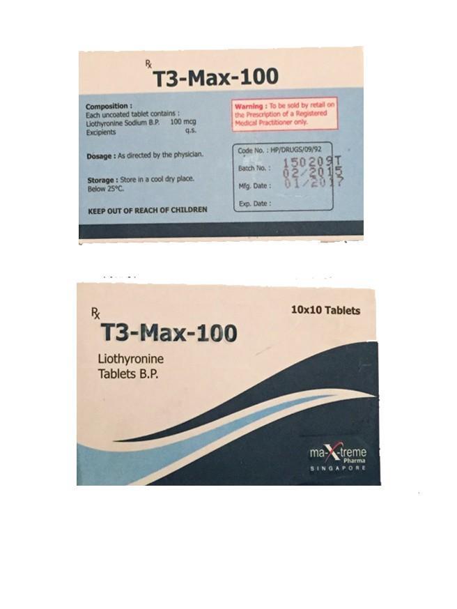T3 Max Triiodothyronine générique 100mcg